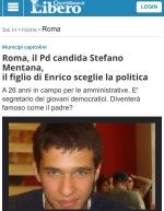Stefano Mentana CandidatoPD
