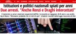 SPIATI PC DI CAPI DI GOVERNO PER DECENNI: 2 arresti aRoma