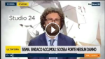 (VIDEO) Danilo Toninelli a STUDIO24: la scossa in diretta