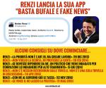 """Renzi lancia la sua app: """"Basta bufale e fakenews"""""""