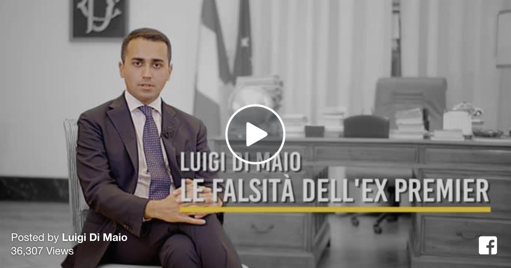 Luigi Di Maio Svela Tutte Le Balle Di Matteo Renzi in TV