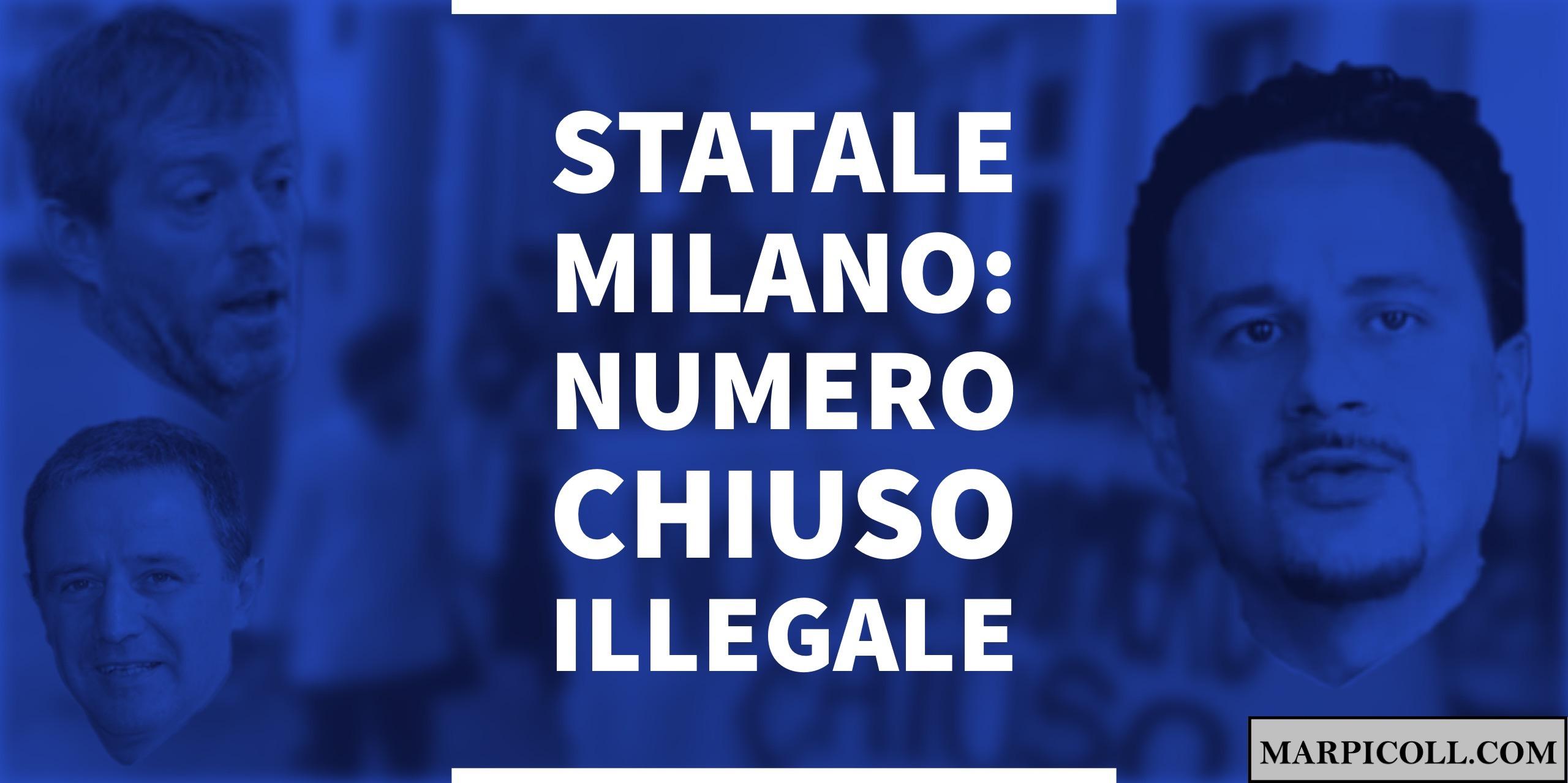 Statale Milano: Numero Chiuso Illegale
